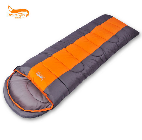 1.4kg Desert Fox outdoor sleeping bag envelope adult spring and winter double sleeping bag Can be spliced Temperature scale 0~12<br>