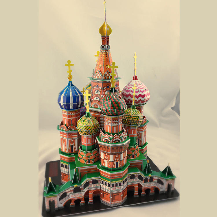 DIY World Architecture model Paper made 3D DIY Huge building model educational toys Vasily Kim Kids Gift Xmas gift(China)