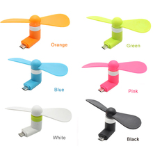 Mini 2 in 1 Portable Micro USB Fan Cooler Cooling Fan For Android Phone Samsung Xiaomi Huawei Smartphones USB Gadget  P15