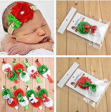 New arrival Christmas gift girl Embroidered sequined bow headband kids hair accessories free shipping 10ps/lot