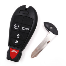 4+1/5 Button Panic Blade Key For Jeep Fobik Smart Remote Car Key For Chrysler 433Mhz with ID46 Electronic Chip For Dodge