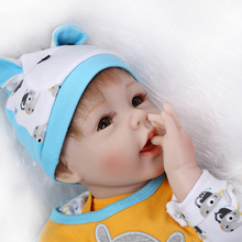 Newest Growth Partners 22 inches Reborn Boy Dolls For Adoption Realistic Imported silica gel Artificial Baby Toys Brinquedos