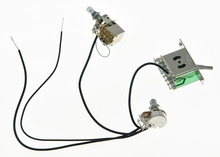 High quality Prewired Wiring Harness 1 Volume 1 Push Pull Tone 500K Mini Pots & 3 Way Switch