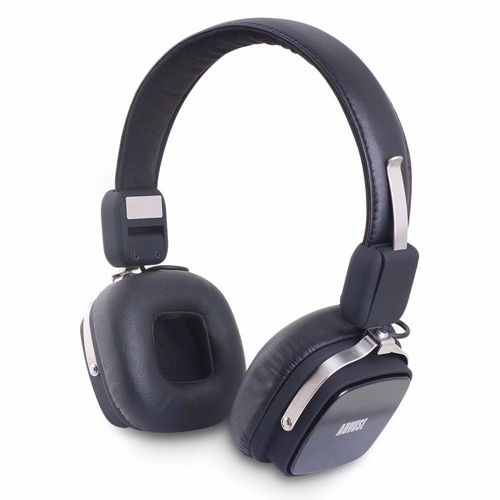 August EP634 Wireless Bluetooth Headphones with Mic Portable Sport Bluetooth Headset with Mic Powerful Bass Over-Ear Earphones