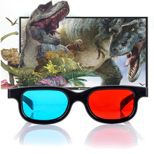 Mayitr 1pair Red Blue 3D Glasses PC Plastic Movie 3D Glasses Frame For Dimensional Anaglyph TV Movie Game DVD