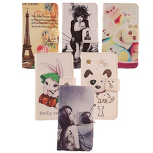 AIYINGE 1 Pieces Painting Design PU Leather Case For BlackBerry Leap Mobile Phone Accessories Classic With Card Slot Holder(China)