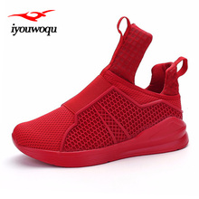 Top Quality Brands Men Sneakers Shoes 2016 New Arrivals Solid Breathable Mesh Outdoor Sports Running Shoes for Men Red White(China)