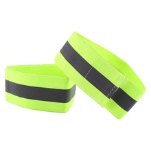 1 Pair High Visibility Band Reflective Wristbands Elastic Ankle Wrist Bands For Waling Cycling Running Outdoor Sports(China)