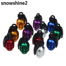 snowshine2 #3001 2PCS Grenade Alloy Valve Caps Dust Covers Bike Bicycle MTB BMX Car free shipping wholesale