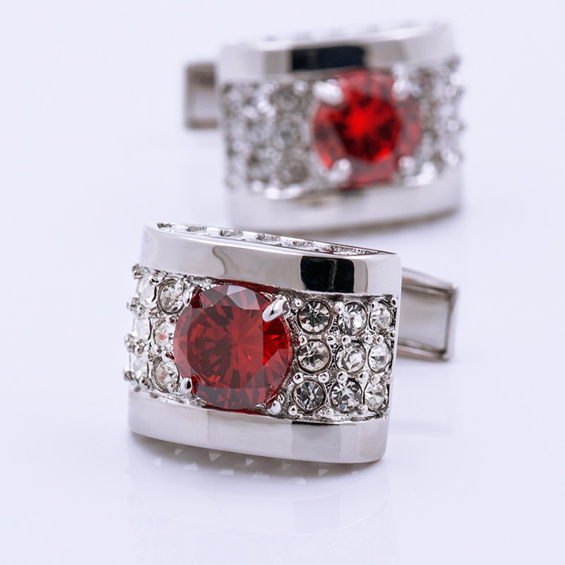 KFLK hot red crystal jewelry 2017 new product man shirt brand high luxury wedding men free