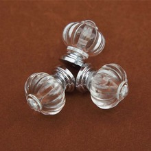 20PCS 28mm Acrylic Crystal Pumpkin Kitchen Cabinet Knobs Kids Dresser Knob Drawer Pulls Handles Children Furniture Handle Pull(China)