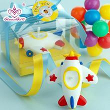 Cute airplane smookless candle baby shower baptism birthday party favor children gift present baby boy girl christmas