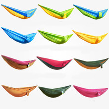 260*130cm Portable Parachute Fabric Travel Camping Double Hammock(China)