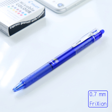 LifeMaster Pilot FriXion Ball Knock Gel Pen 5pcs/lot 0.7 mm Blue/Black/Red Erasable Ink Writing Supplies LFBK-23F(China)