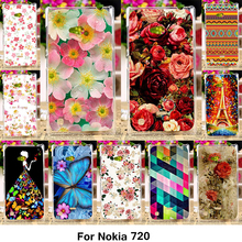 TAOYUNXI Silicone Phone Cover Case Coque for Nokia Lumia 720 N720 N720T 4.3 inch Case TPU Plastic Cover Rose Peony Flower Bag(China)