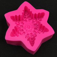 Snow Flake Shape Chocolate Candy Jllo 3D Silicone Mould Cartoon Figre/Cake Tools Soap Mold Sugar Craft Cake Decoration E587