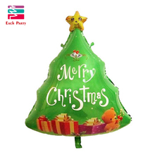Christmas tree foil balloons inflatable helium balloon kids classic toys merry Christmas decorations air balloons Christmas gift