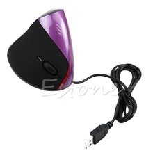 Laptop Ergonomic Design Wrist Healing USB Vertical Optical Mouse For Computer PC(China)