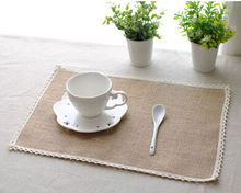 Japan Style Natural Jute Dining Table Placemat Tableware Pad Coaster Place Mat