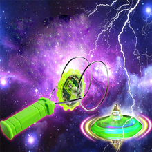 Flashing Led Spinning Top Magnetic Gyro Wheel Track Toy Magic Fantasy Laser Light Gyro Bauble Colorful Shine Plastic Kids Gift(China)