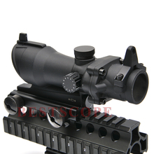 Tactical Airsoft ACOG Scopes 1x32 Red /Green Dot Adjustable Illuminated Laser Sight Rifle Scope for 20mm Weaver Rail Mount