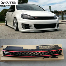 Golf 6 MK6 GTI Racing Grills ABS car mesh grille for Volkswagen VW JETTA MK6 front bumper 11-13