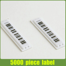 5000 piece 58Khz DR label with barcode,adhesive eas soft label shipping by DHL/Fedex