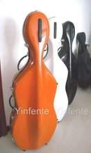 4/4 Cello case waterproof glass fiber strong yellow #33