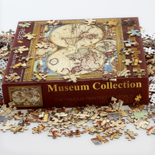 Promotion 1000Pieces landscape solid paper Puzzle without box Children Educational Jigsaw toy Decompression rest painting GIFT
