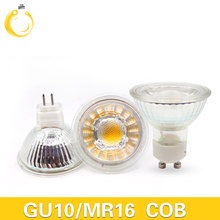 MUFAVA 12W Led Spotlights cob Lamp 60 Angle GU10 MR16 Dimmable Led Bulbs led light AC 110-240V Glass body led bulbs