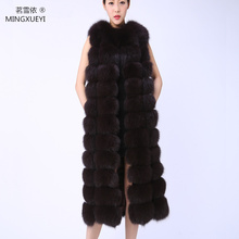 New brand Really high quality fur Natural fox fur vest r long section fashion lead women fur coat fox fur