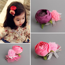 New Girls Hair Accessories Fashion Baby Hairpins Retro Simulation Flower Children Headwear kids Hair Clips Princess Barrette(China)