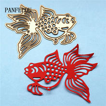PANFELOU Metal craft Hollow out Lovely goldfish paper die cutting dies for Scrapbooking/DIY Christmas wedding Halloween cards(China)