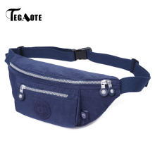 TEGAOTE Hip Bag Travel Waist Bags for Women Fanny Pack Male Zipper Belt Pack Bag Money Brand Casual Bum Bolsa Pouch Purse 2017