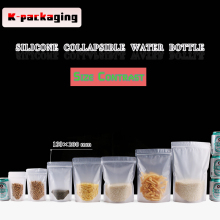 5 pcs 13x20cm Food Grade Frosted Standing Zip Lock Snack Packaging Bags Biscuit Bag