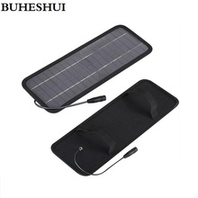 BUHESHUI 18V 4.5W Solar charger Solar Panel /battery charger for car/mobile phone/ 12V Rechargeable battery Free shipping(China)