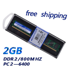 Best buy from china memoria ram desktop ddr2 2gb  800mhz PC 6400 2GB  desktop for A-MD only price free shipping