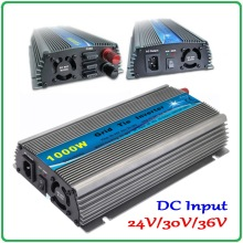 1000W Grid Tie Inverter MPPT Function, 20-45VDC to AC190-260V or 90-140V Pure Sine Wave Output Micro on grid tie inverter 1000W(China)