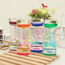 Floating Color Mix Illusion Timer Liquid Motion Visual Slim liquid Oil Glass Acrylic Hourglass Timer Clock Ornament Desk Decro