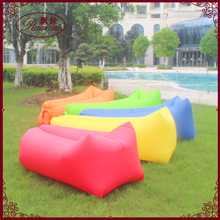 Camping lazy bag inflatable air sofa double pocket laybag sleeping bag adult beds air lounge Fast Inflatable folding air bed