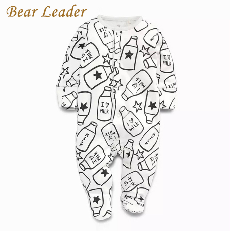 Bear Leader Baby Rompers Autumn Fashion Baby Boy Clothes Children Clothing Long-sleeve Striped Newborn Rompers Baby Jumpsuit