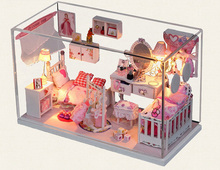 DIY house Princess dream house is handmade toys assembled it architectural scene model girl gifts on their birthday