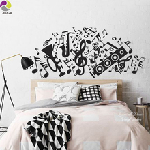 Large Music Note Guitar Speaker Violin Rock Wall Sticker Decal Sofa Bedroom Bedside Vinyl Mural For Kids Room Children Room