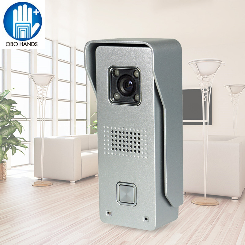 Wired 700TVL Camera Intercom System Night Vision Video Doorbell with Rainproof Cover/Call Button Waterproof for Home Security<br>