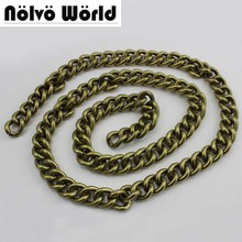 5 meters 4.5X17mm Wide 100% Aluminium Chain Retro Bronze color Roller Big Light chain for hand bag purse adjusted strap(China)