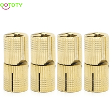4 Pcs 14mm Brass Barrel Cabinet Cylindrical Hidden Concealed Invisible Hinge  828 Promotion