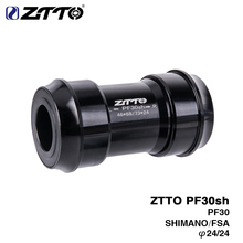 Buy ZTTO PF30sh PF30 24 Adapter bicycle Press Fit Bottom Brackets MTB Road Mountain bike Shimano Prowheel 24mm Crankset chainset for $17.80 in AliExpress store