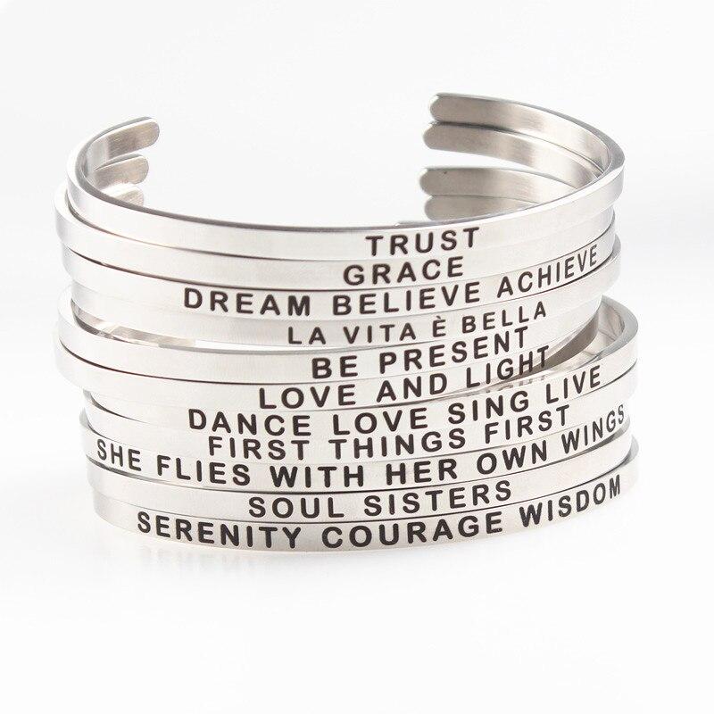 Großhandel Soul Sisters Personalisierte Manschette Armband ...