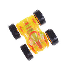 New Cute Toy LED Double-sided Flip Cars For Child Hot Wheels Mini Pull Back Car Model Kids Oyuncak For Boys Coches Juguetes(China)