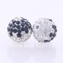 High Quality !! New Shamballa Ball For European Bracelets,Hot Design White & Black Color Beads(China)